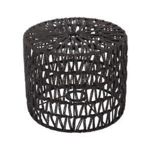 Stehender Lampenschirm Luca zylinder schwarz