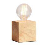 Tischlampe Sweden quadratisch 9.5 x 9.5 cm Holz