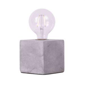 Tischlampe Sweden quadratisch 10 x 10 cm Zementfarbe