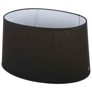 Stehender Lampenschirm Eleganza oval schwarz