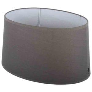 Stehender Lampenschirm Eleganza oval grau