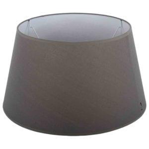Stehender Lampenschirm Eleganza drum grau 20 cm