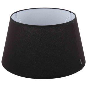 Stehender Lampenschirm Eleganza drum schwarz
